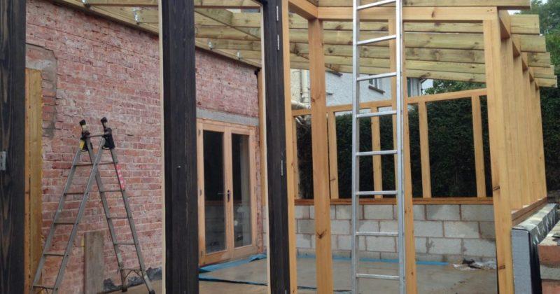 Timber frame conservatory